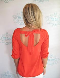 Red Bow Back Top: Shop BellaC