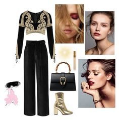 """Untitled #64"" by nuraypva on Polyvore featuring For Love & Lemons, River Island, Gucci and MAC Cosmetics"