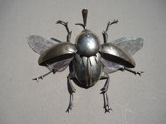 Animal Sculptures, Sculpture Art, Silverware Art, His Dark Materials, Found Object Art, Insect Art, Scrap Metal Art, Junk Art, Bugs
