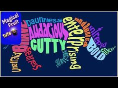 Create an Animal Word Cloud Shape Design in Photoshop CC - YouTube--Use for creating word art