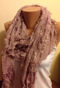 A personal favorite from my Etsy shop https://www.etsy.com/listing/179758429/soft-pink-fringed-scarf-knitted-fluffy