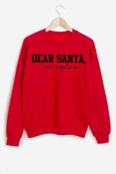 Dear Santa– I Can Explain