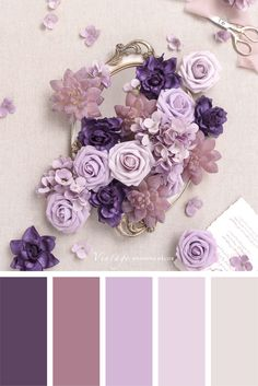 Color palettes and color inspiration for wedding. Dusty Rose Wedding Color Ideas for 2020 Purple Color Combinations, Purple Color Schemes, Color Schemes Colour Palettes, Colour Pallete, Purple Palette, Wedding Color Pallet, Wedding Colors, Wedding Ideas, Palette Pantone
