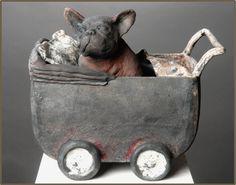 Pottery Animals, Ceramic Animals, Ceramic Art, Sculptures Céramiques, Sculpture Clay, Animal Games, Land Art, Dog Art, Pet Birds