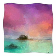 "East Urban Home Oriana Cordero Tenerife Aqua Fleece Throw Size: 60"" W x 80"" L"