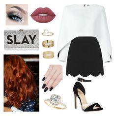 """SLAY"" by beyourownkindofbeaut on Polyvore featuring moda, Topshop, Balmain, Lime Crime, Allurez, Milly, ncLA e Miss Selfridge"
