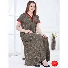 ead6a2e17c Buy women s v-neck design printed alpine nighty at best prices from  Goldstroms. This nighty can be worn as leisure wear and nightwear.