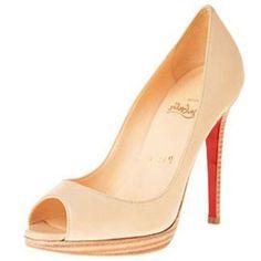 Louboutin Yolanda 120mm Peep Toe Pumps Zement #heels