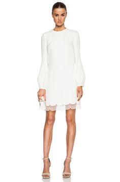 GIAMBATTISTA VALLI LONG SLEEVE VISCOSE CADY DRESS $2,350 $1,645