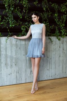 Silver dress with tulle embroidered with pearls and ruched silk / Rochie din matase plisata manual si tulle fin broad cu Perle - Maigre Couture Silver Dress, Manual, Couture, Silk, Pearls, Skirts, Dresses, Fashion, Lean Body