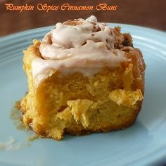 "Pumpkin Spice Cinnamon Buns. One pinner said: ""These were the best cinnamon rolls I ever made! Unlike a regular cinnamon roll, these did not go dry. The pumpkin kept the roll dough moist."""
