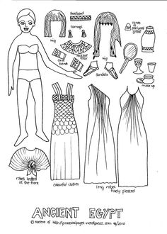 Paper Dolls of Ancient History: Egypt & Rome. Mystery of History Volume 1, Lessons 22 & 70 #MOHI22 #MOHI70