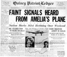 old newspaper articles amelia earhart - Google Search