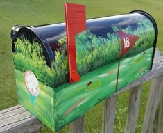 Hand Painted Golf Mailbox - FREE Shipping! Bick-Lane Creations