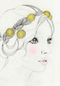 Yellow Girl by elisa mazzone, via Flickr