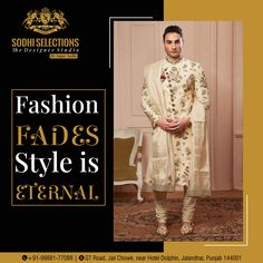 Find Here:- Designer Sherwani For Men | Luxury Menswear Fashion | Sodhi Selections ✅Fashion Fades, Style is ETERNAL 👉To buy the latest and Luxury Men's Wear, #Contact: +91-99881-77088 #Address: GT Road, Near Hotel Dolphin, Jalandhar, Punjab -144001 #sodhiselections #sagarsodhi #suits #fashion #suit #style #suitstyle #mensfashion #dresses #bridal #menswear #kurti #onlineshopping #indianwear #instafashion #designer #ethnicwear #cotton #dress #indianfashion Sherwani For Boys, Sherwani For Men Wedding, Wedding Men, Luxury Mens Clothing, Men's Clothing, Mens Wear For Marriage, Fade Styles, Virat Kohli, Designer Clothes For Men