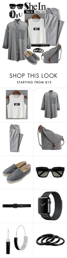 """""""Letter Top"""" by manueladimauro ❤ liked on Polyvore featuring WithChic, MM6 Maison Margiela, Lands' End, Chanel, Yves Saint Laurent, Lauren Ralph Lauren, Kenneth Cole and Furla"""
