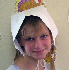 how to make a girls pilgrim bonnet teaching time holidays thanksgiving activities activities teaching