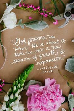 God prunes us when he is about to take us to a new season of growth and expansion! - Christine Caine, Women of Faith speaker Bible Quotes, Bible Verses, Faith Quotes, Biblical Quotes, Biblical Womanhood, Journey Quotes, Bible Teachings, Empowering Quotes, Scripture Quotes
