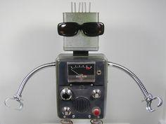 INFARED  Found Object  Robot Sculpture by NutzenBoltsWorks on Etsy, $169.00