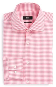 BOSS HUGO BOSS 'Miles' Sharp Fit Check Dress Shirt available at #Nordstrom