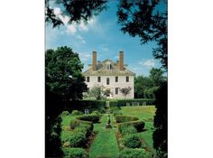 Hamilton House, built c.1785. A Historic New England property located in South Berwick, Maine.