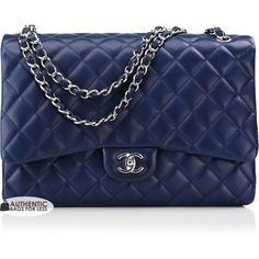 a73731c4451e13 CHANEL - 2010 Chanel Marine Lambskin Maxi Bag - Authentic Bags For... ❤