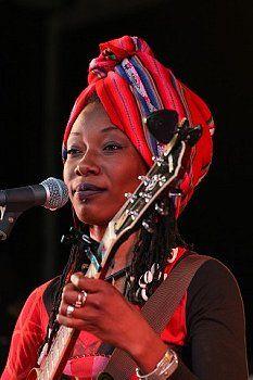 Fatoumata Diawara at the BBC Stage during WOMAD 2011