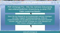 http://pdf-xchange.de - Wenn Sie zum Beispiel für ein Kundenprojekt mehrere Unterlagen wie z.Bsp. Angebot, Produktbeschreibung, AGBs etc. zusammenstellen und...  #pdfxchangeeditor #pdfconverter #pdfeditor #pdfsoftware