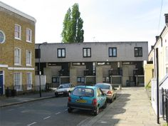 Neave Brown, architect, 1964  |  Terraced houses at Winscombe Street, N19 London  | Post Modern Architecture, Beautiful Architecture, Social Housing, Her Majesty The Queen, University Of Washington, Modern Homes, Postmodernism, Ps, Terrace
