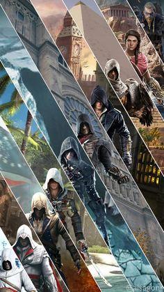 Assasin Creed Unity, Arte Assassins Creed, Assassins Creed Black Flag, Assassins Creed Odyssey, Asasin Creed, All Assassin's Creed, Video Game Art, Video Games, Cartoon Wallpaper