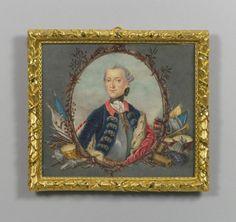 German School, 18th century After J.G.Ziesenis? Albert Henry, Duke of Brunswick-Wolfenbüttel (1742-1761)  c.1756-66 Watercolour on ivory   RCIN 420637