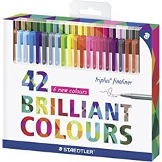 Staedtler Color Pen Set, 334C42 Set of 42 Assorted Colors (Triplus Fineliner Pens)