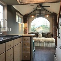 """The """"Rustic Elegance"""" tiny house in Tehachapi, California Photos by Mike Pryor"""