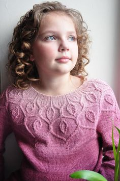 Ravelry: Dancing Leaves Sweater pattern by Pelykh Natalie - lovely gradient pink sweater with a cabled leaf yoke. Christmas Knitting Patterns, Sweater Knitting Patterns, Knit Patterns, Knitting For Kids, Knitting Projects, Baby Pullover, Dress Gloves, Yarn Brands, Baby Sweaters