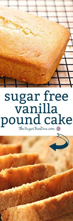 Sugar Free Vanilla Pound Cake- this is perfect for This is a that is a favorite too! Sugar Free Vanilla Pound Cake- this is perfect for This is a that is a favorite too! Diabetic Deserts, Diabetic Friendly Desserts, Diabetic Snacks, Low Carb Desserts, Diabetic Recipes, Dessert Recipes, Diabetic Cake, Pre Diabetic, Gastronomia