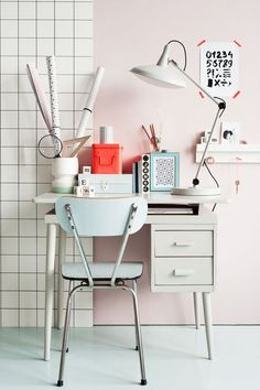 Creative use of space but you'll have your back to the room ~ tiny creative workspaces we love on domino.com