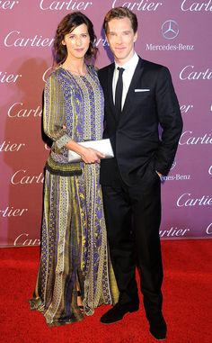 Benedict Cumberbatch & Sophie Hunter shine at the 26th Annual Palm Springs International Film Festival Awards Gala on Jan 3, 2015 at Palm Springs Convention Center