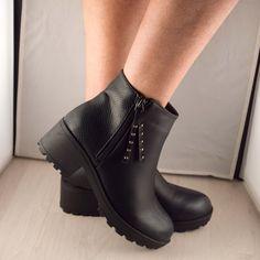 Poze Ghete negre Irene  2016 Biker, Wedges, Boots, Fashion, Crotch Boots, Moda, Fashion Styles, Shoe Boot, Fasion