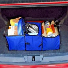 Storage Box 3 Compartment Traveling Car Trunk Organizer Collapsible Cargo Bag