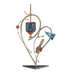 Broken Wedding Glass Dreidel by Gary Rosenthal