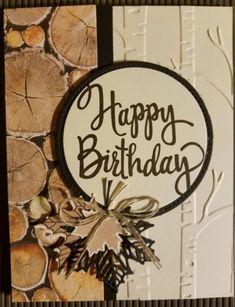 Stampin' Up! -Woodland EF- Happy Birthday thinlits
