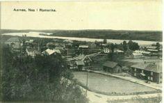 Aarnes Årnes Nes i Romerike Glomma i bakgrunnen ca 1900