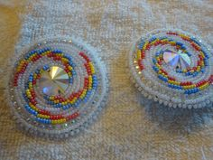 native american beaded earrings by Jackiesbeadsnthings on Etsy, $35.00