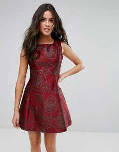 AX Paris Jacquard Skater Dress - Purple Cheap Clothes abc90ee2c