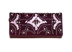 Montana West Wallet Wristlet Western Cowgirl Bling collection Burgundy #MontanaWest #wallet