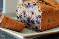 Greek Yogurt Blueberry Banana Bread | Nosh and Nourish. Made this last night with walnuts instead of blueberries. I was skeptical with no butter or oil, but it came out good!!