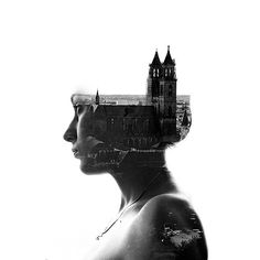 Check out this beautiful collection double exposure effects. This are made using traditional camera and Photoshop. Get inspired with these cool photos! Double Exposition, Photoshop Photography, Aerial Photography, Urban Photography, Multiple Exposure Photography, Double Exposure Effect, Experimental Photography, Foto Art, Photo Effects