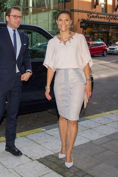 Crown Princess Victoria of Sweden and Prince Daniel attend 'Never Mind the Gap' Seminar on September 4, 2014 in Stockholm, Sweden.
