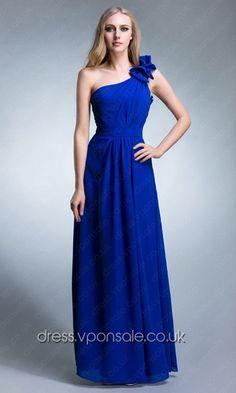 f02b6a5b48 Blue One Shoulder Long Bridesmaid Dress VPBN665 Bridesmaid Dresses 2014